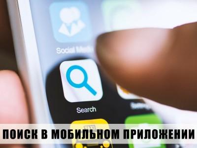 Разработка функции поиска для мобильного приложения